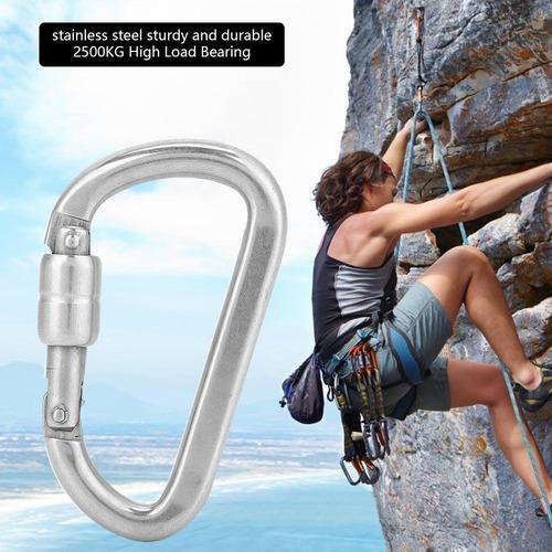 mosquetón seguro duradero cadena de hebilla de escalada de a