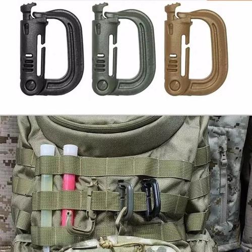 mosqueton táctico militar edc para sistema muelle 4 piezas