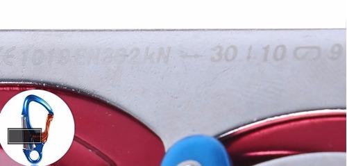 mosquetón tipo k vía ferrata certificado deportes verticales