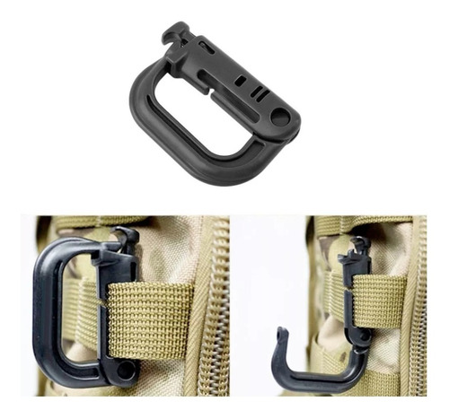 mosquetones táctico militar edc para sistema molle 4 piezas