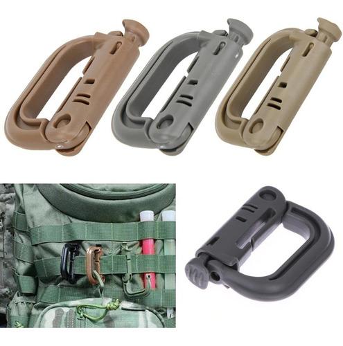 mosquetones táctico militar edc para sistema molle mochila