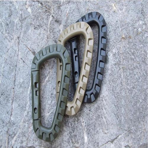 mosquetones táctico militar sistema muelle lote 4 piezas