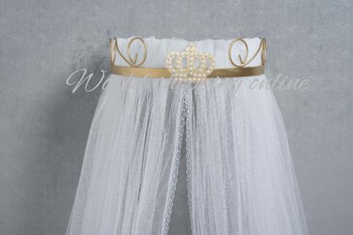 mosquiteiro cortinado com suporte dossel coroa realeza