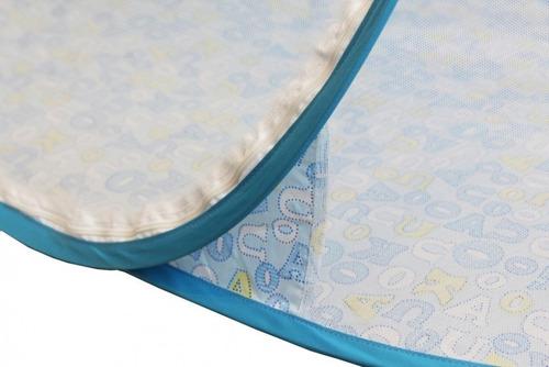 mosquiteiro tenda azul berço portátil bebê menino mc1