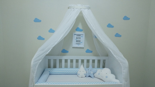 mosquiteiro voal com dossel berço quarto de bebê nenino(a)