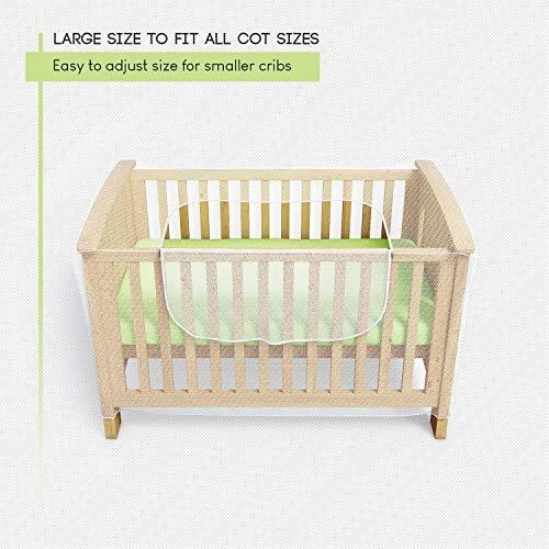 Mosquitero para cuna de Luigis mois/és y cama para beb/és con z/íper con acceso r/ápido y f/ácil a su hijo