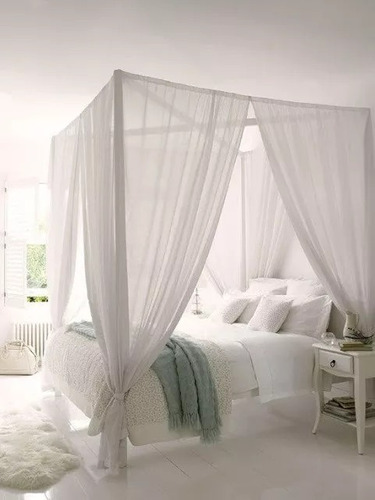 mosquitero cubre cama tul de 2 1/2 plazas cuna a king size