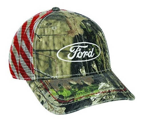 mossy oak 6 panel structured mesh back snap closure ford.