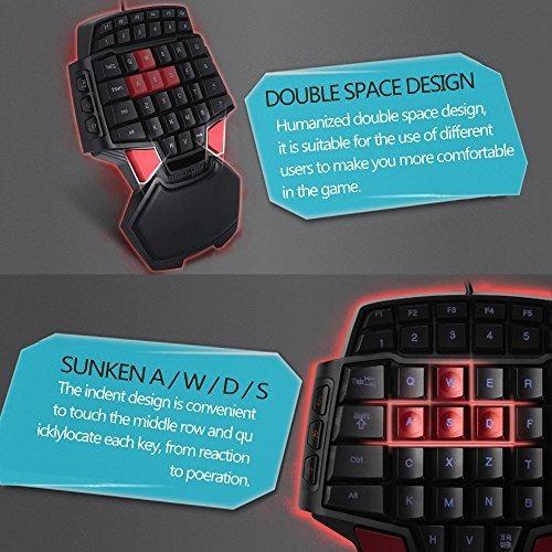 mostop keybaord una mano teclado mini juego portatil teclado
