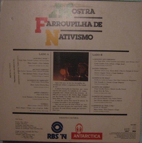mostra farroupilha de nativismo - seleção - 1985