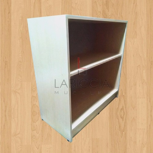 mostrador ciego100 x94 estante y detalle en acero inoxidable