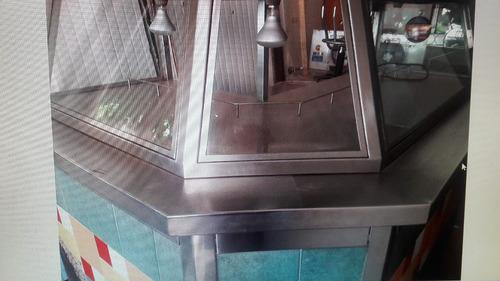 mostrador de acero inoxidable