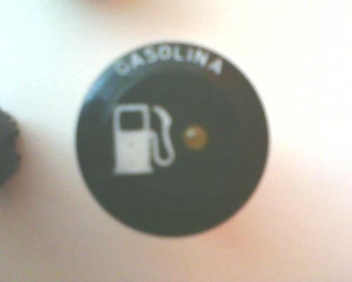 mostrador de advertencia gasolina dos fuscas brasilia kombi