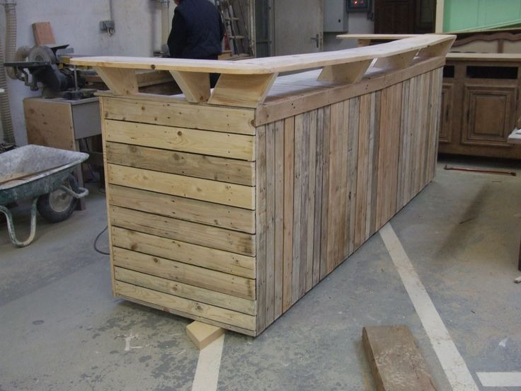 how to build an outdoor wooden bar