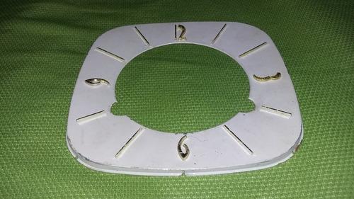 mostrador de relogio silco de mesa antigo a corda