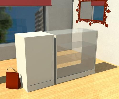 mostrador vitrina con cajero kiosco caramelera 200-combi-500