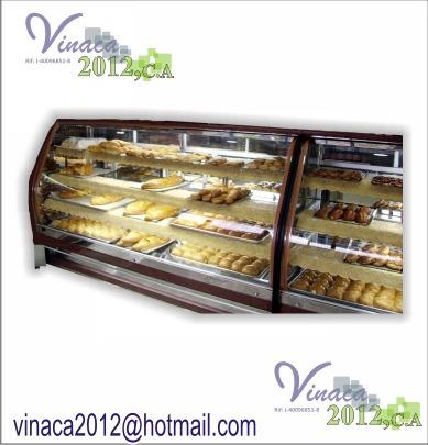 mostradores curvo de panaderia y pasteleria