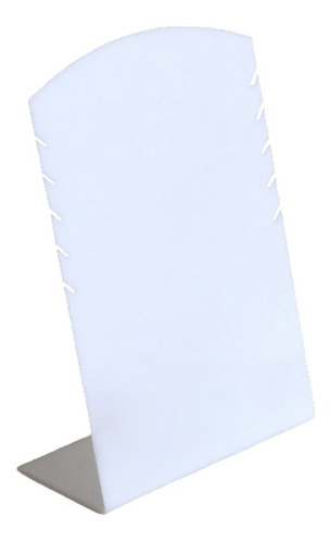 mostruário de colares de acrílico branco
