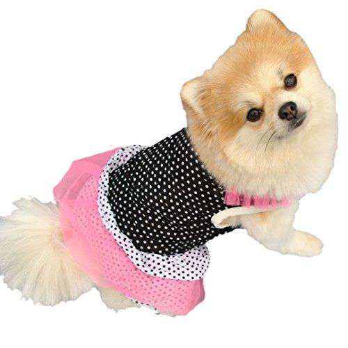 mosunx(tm) moda perro princesa vestido perro punto falda