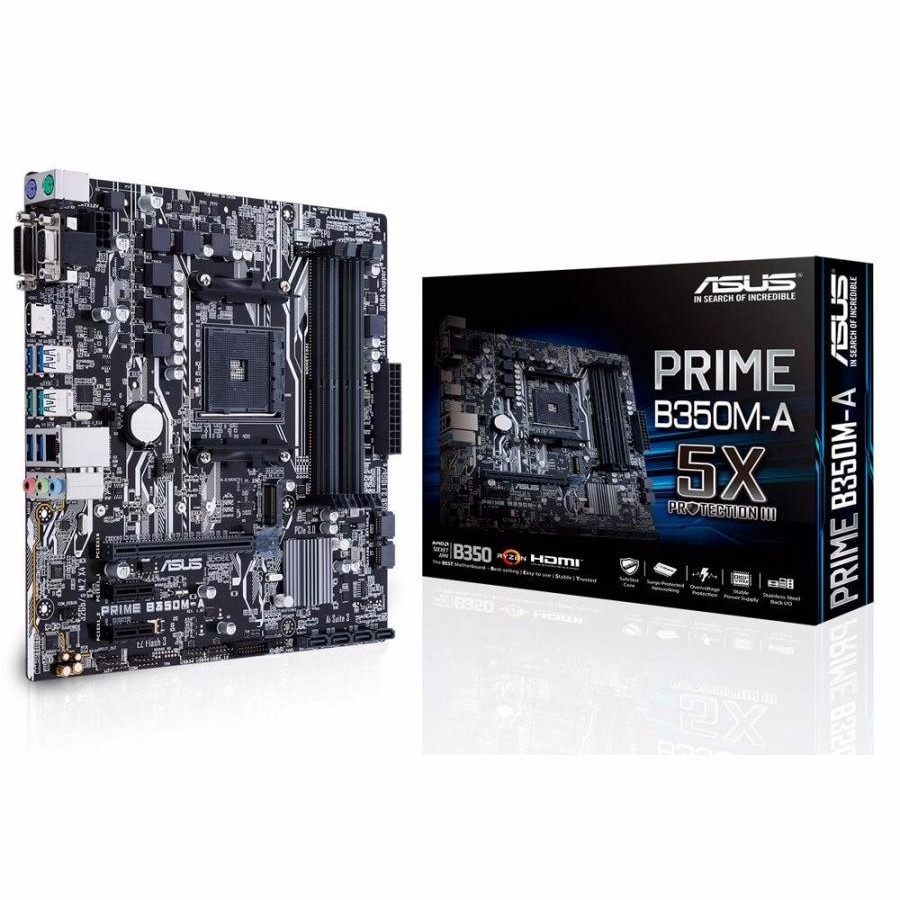 Mother Asus Prime B350m-a B350 / Luces Led Am4 4k Fhd Ryzen
