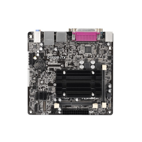 mother board asrock itx intel 2core celeron 2xsodimm ddr