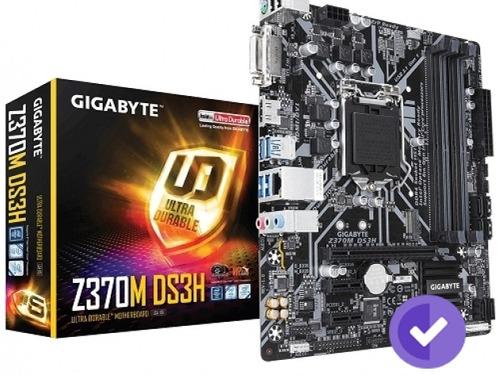mother gigabyte (1151) z370m ds3h