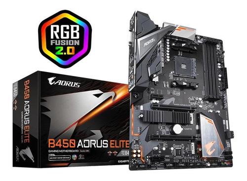 mother gigabyte b450 aorus elite compatible ryzen 3ra gen