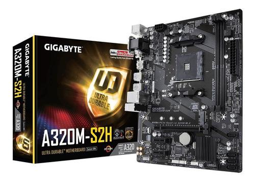 mother gigabyte ga a320m s2h am4 ryzen amd