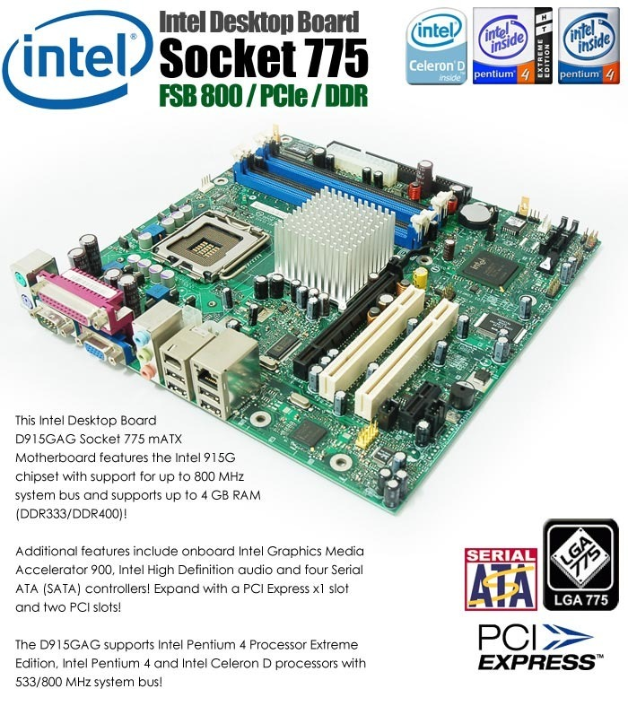 INTEL D915GAG Serie Windows 8 X64