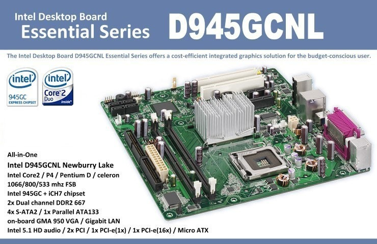 INTEL D945GCNL MOTHERBOARD DRIVERS FOR WINDOWS