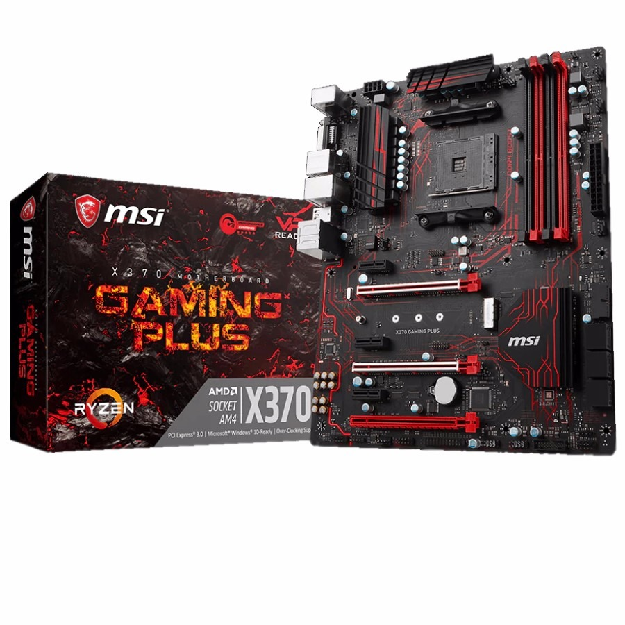 Mother Msi X370 Gaming Plus Am4 Ryzen Ddr4 Usb 3.1 Rgb