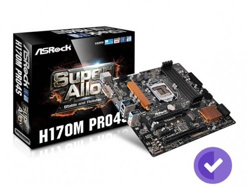 motherboard 1151 asrock h170m pro4s dvi-d, hdmi