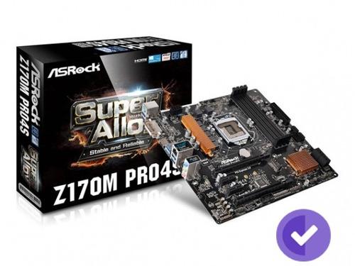 motherboard 1151 asrock z170m pro4s dvi-d, hdmi