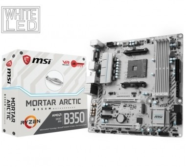motherboard (am4) b350m mortar arctic msi