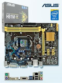 motherboard asus h81m k  lga1150  h81  ddr3  sata 6 0  usb 3
