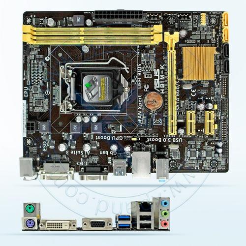 motherboard asus h81m-k  lga1150  h81  ddr3  sata 6.0  us...