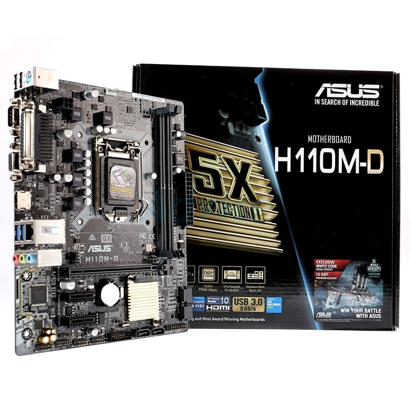 ASUS H110M-D Intel Graphics 64x