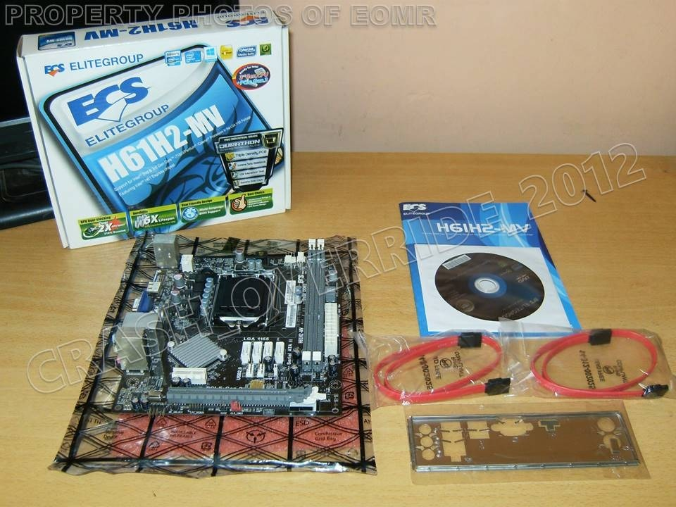 Motherboard Ecs H61h2-mv Intel H61 Socket 1155 Vga Hdmi - $ 2,799 00