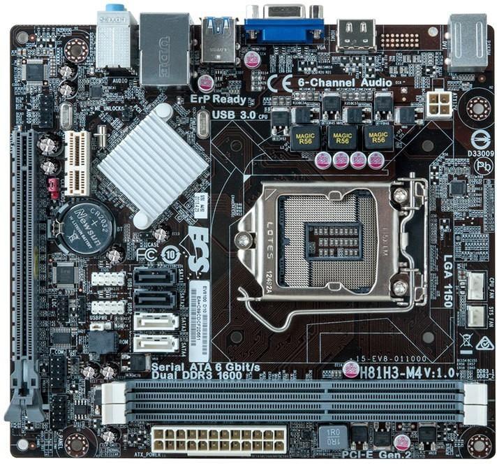 Motherboard Ecs H81h3 Socket 1150 Ddr3