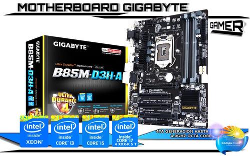 motherboard gamer gigabyte hasta 32gb ram i3/i5/i7 hdmi 4k