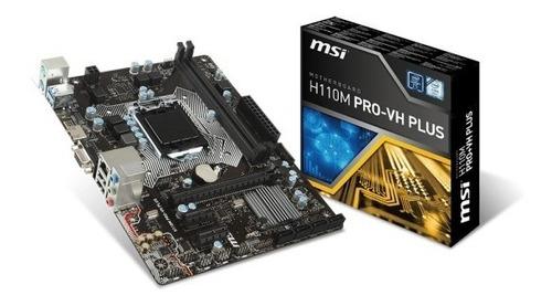 motherboard msi h110m pro vh plus 6 y 7ma gen 1151 hdmi vga