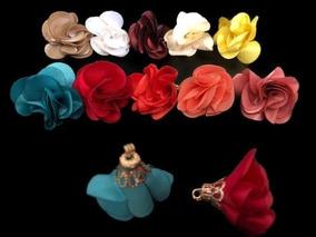 5db9ec1112ea Aretes De Flores De Tela - Joyas y Relojes en Mercado Libre México