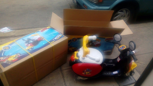 motito mickey y mini 6 voltios batería recargable niños niña