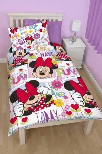 Motivo Minnie Mouse Parure De Lit Simple 8 079 75 En Mercado Libre