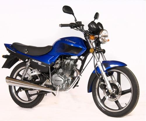 moto 0km corven hunter 150 full azul 0km entrega inm rvm