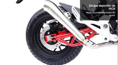 moto 1 diavolo 169 169cc año 2018 color blanco-negro-rojo