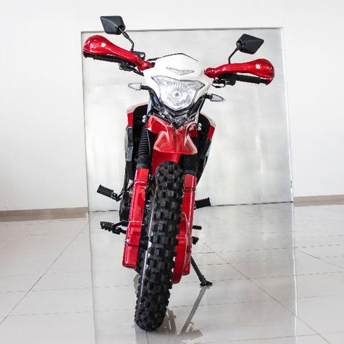 moto 200cc todo terreno doble suspensión delivery