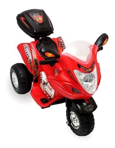 moto 3 ruedas a bateria para niños con sonido 6v 3001