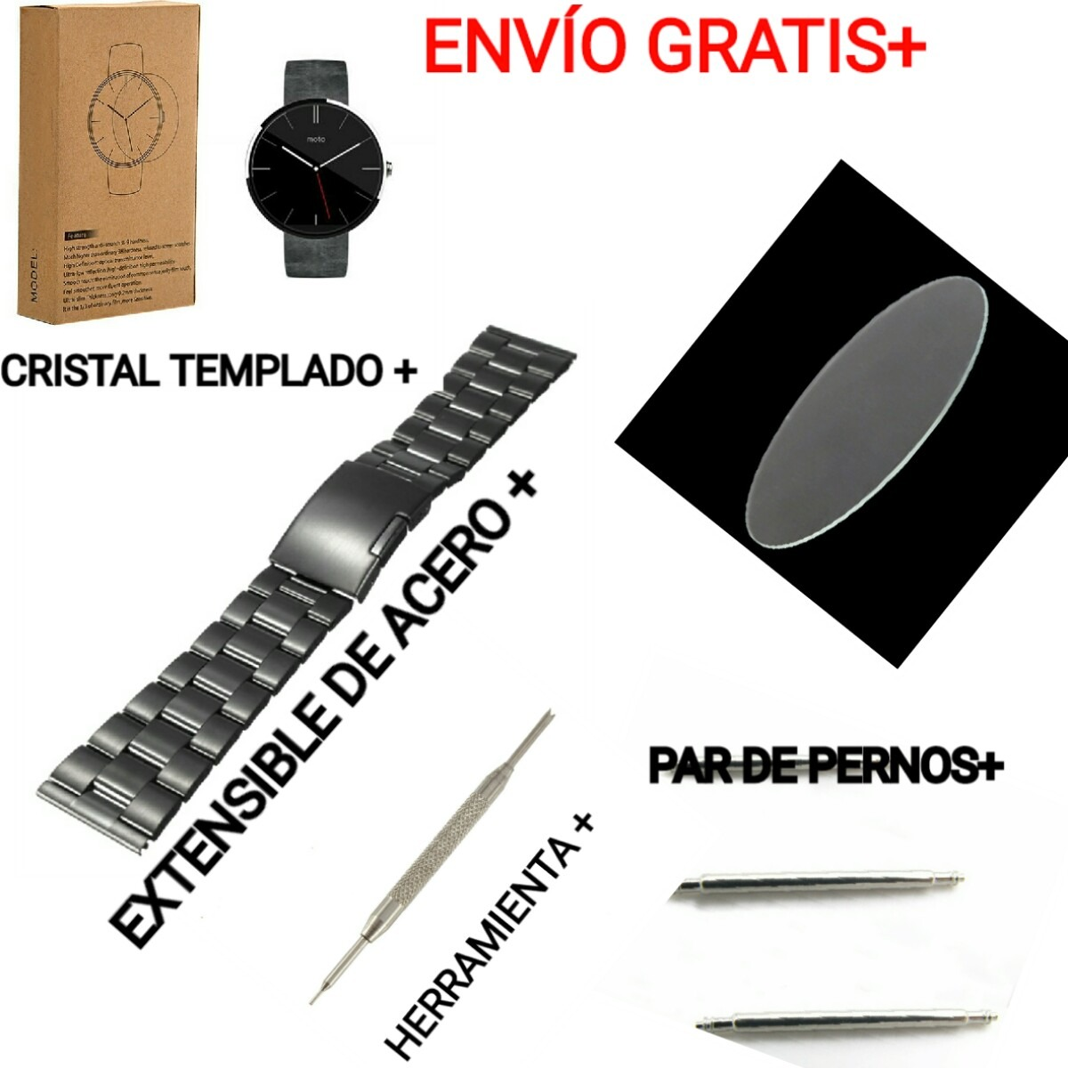 ee50784ddbda Moto 360 Extensible 1ra Generación+mica+herramienta+pernos ...
