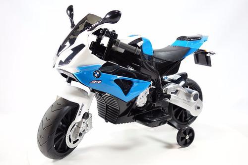moto a batería bmw  para niños 12v con licencia azul